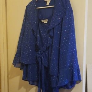 Two Piece Blue Holiday Set from Dress Barn